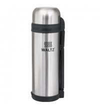 Термос с узким горлом Waltz 1.8л нержавеющая сталь, пластиковая ручка