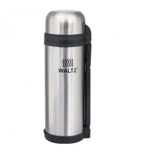 фото: Термос с узким горлом Waltz 1.8л нержавеющая сталь, пластиковая ручка