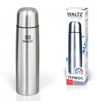 Термос с узким горлом Waltz 1л нержавеющая сталь
