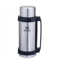 Термос с узким горлом Waltz 2.6л нержавеющая сталь, пластиковая ручка