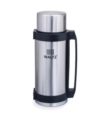 фото: Термос с узким горлом Waltz 2.6л нержавеющая сталь, пластиковая ручка