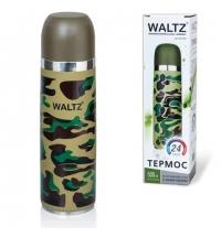 Термос с узким горлом Waltz 0.5л нержавеющая сталь, хаки