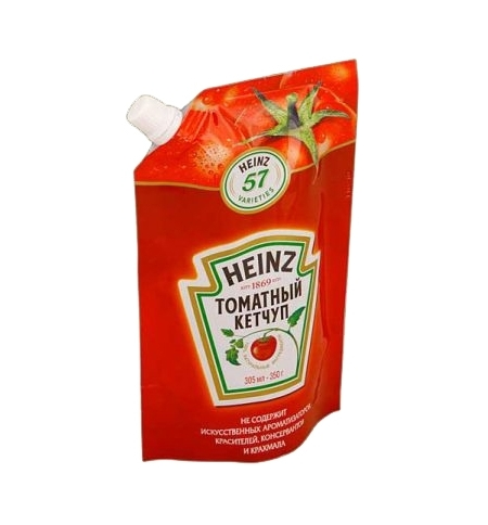 фото: Кетчуп Heinz томатный 350г, пакет