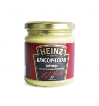 Горчица Heinz классическая 185г, стекло