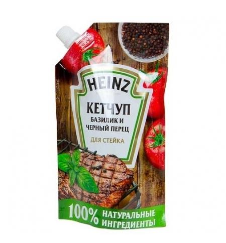 фото: Кетчуп Heinz базилик и черный перец для стейка 350г, пакет