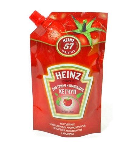фото: Кетчуп Heinz для гриля и шашлыка 350г, пакет
