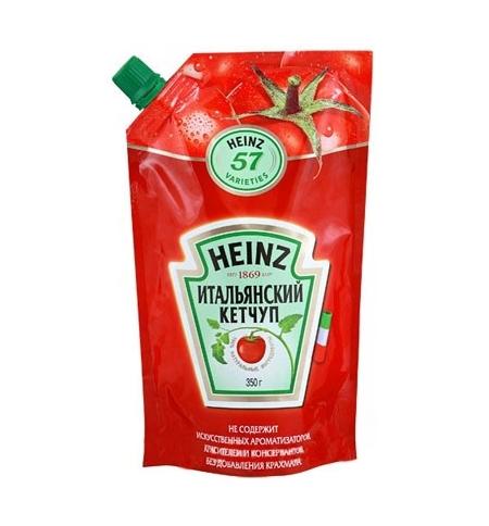 фото: Кетчуп Heinz Итальянский 350г, пакет