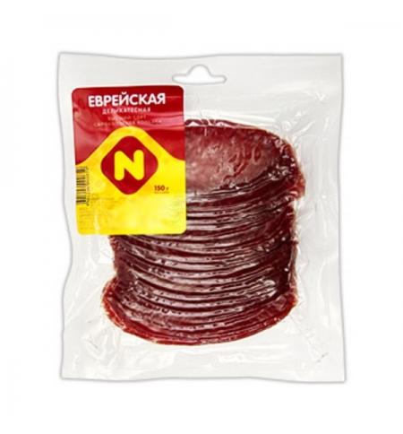 фото: Колбаса Останкино Еврейская деликатесная сырокопченая 150г, нарезка