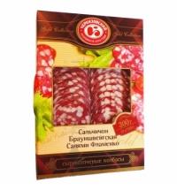 Колбаса Черкизовский сырокопченая ассорти 300г, нарезка