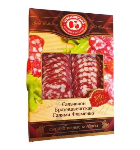 фото: Колбаса Черкизовский сырокопченая ассорти 300г, нарезка