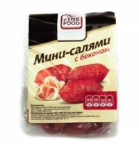 Колбаски Fine Food Мини-салями сырокопченые с беконом 70г