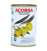 Оливки Acorsa зеленые без косточки 425г