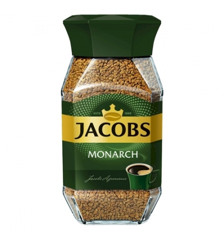 фото: Кофе растворимый Jacobs Monarch 190г стекло