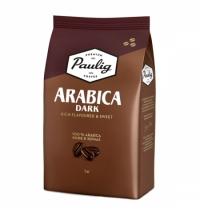 Кофе в зернах Paulig Arabica Dark Roast 1кг пачка