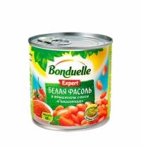 Фасоль Bonduelle белая в томатном соусе пикантная 430г