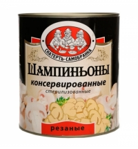 Шампиньоны Скатерть Самобранка резаные 3.1л