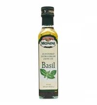 Масло оливковое Monini Extra Virgin нерафинированное с базиликом, 250мл
