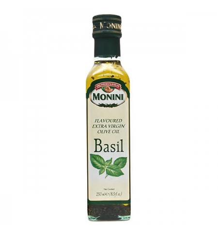 фото: Масло оливковое Monini Extra Virgin нерафинированное с базиликом, 250мл