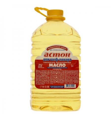 фото: Масло подсолнечное Астон высокоолеиновое рафинированное 5л