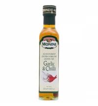Масло оливковое Monini Extra Virgin нерафинированное с чесноком и перцем, 250мл