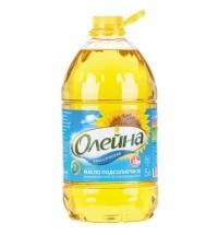 Масло подсолнечное Олейна рафинированное дезодорированное 5л