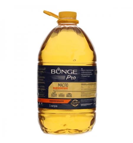фото: Масло подсолнечное Bunge Pro рафинированное дезодорированное 5л