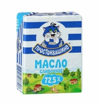 Масло сливочное Простоквашино 72.5% 180г