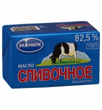 Масло сливочное Экомилк 82.5% 450 г