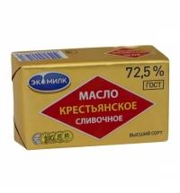 Масло сливочное Экомилк Крестьянское 72.5% 180г