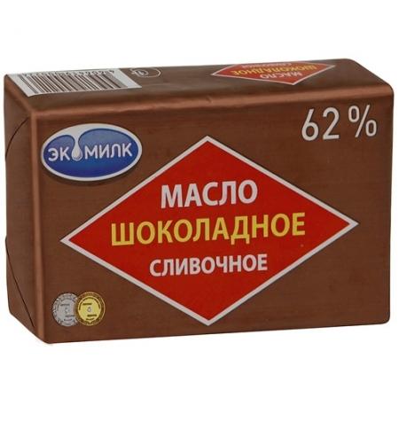 фото: Масло сливочное Экомилк шоколадное 62% 180г