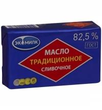 Масло сливочное Экомилк Традиционное 82.5% 450г