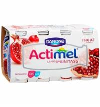 Кисломолочный напиток Actimel натуральный гранат 100г х 8шт