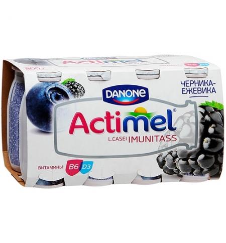 фото: Кисломолочный напиток Actimel натуральный черника-ежевика 100г х 8шт