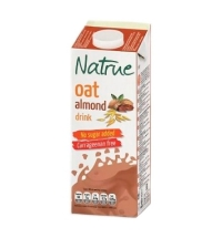 Овсяный напиток Natrue 2.4% c миндалем, без сахара, 1л