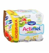 Кисломолочный напиток Actimel натуральный киви-клубника 100г х 6шт