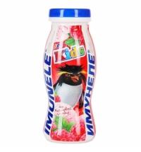 Кисломолочный напиток Имунеле For Kids малиновый пломбир 100г