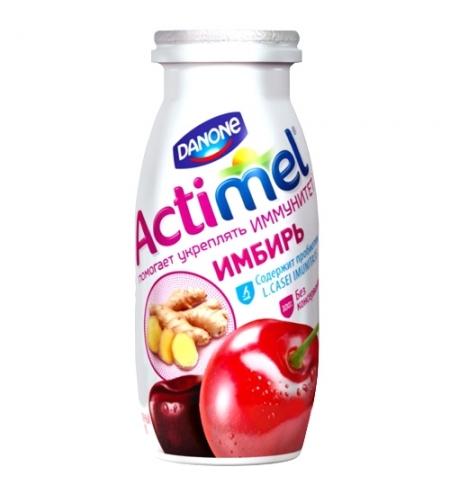 фото: Кисломолочный напиток Актимель вишня-черешня-ибирь 2.5%, 100г х 6шт