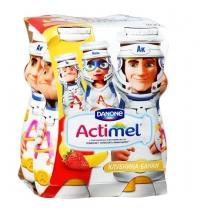 Кисломолочный напиток Actimel Kids клубника-банан 2.5%, 100г х 4шт