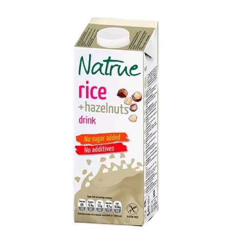 фото: Рисовый напиток Natrue 1.5% с лесным орехом, без сахара, 1л