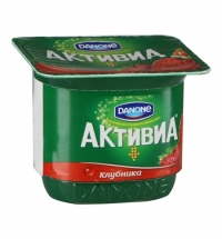 Йогурт Активиа клубника 2.9%, 150г