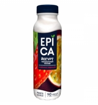 Йогурт питьевой Epica клубника-маракуйя 290г
