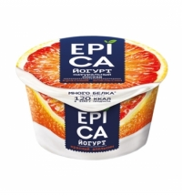 Йогурт Epica красный апельсин 4.8%, 130г