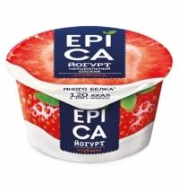 Йогурт Epica клубника 4.8%, 130г