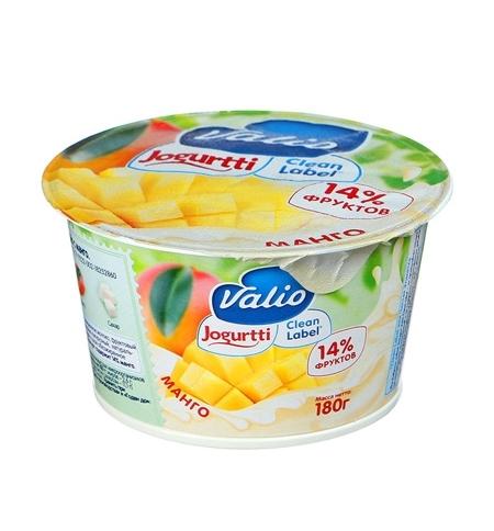 фото: Йогурт Valio Clean Label манго 2.6%, 180г