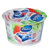 Йогурт Valio Clean Label черника-клубника 2.6%, 180г