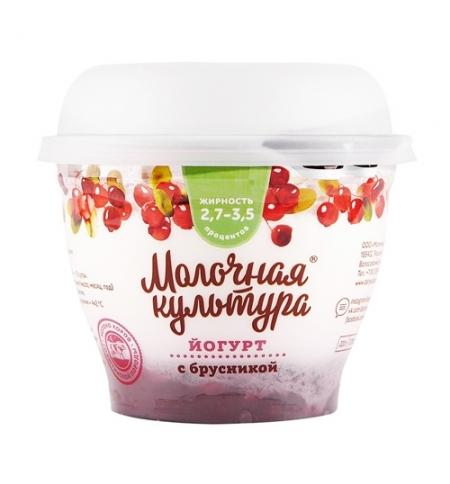 фото: Йогурт Молочная Культура брусника 2.7-3.5%, 220г