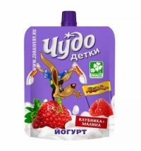 Йогурт питьевой Чудо Детки клубника-малина 2.5%, 85г