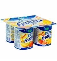 Йогурт Fruttis Сливочное лакомство дыня-манго-банан-клубника 5%, 115г