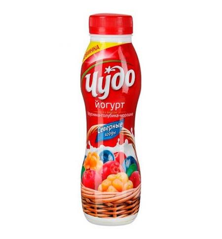 фото: Йогурт питьевой Чудо 2.4% северные ягоды 270г