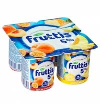 Йогурт Fruttis Сливочное лакомство персик-маракуя-ананас-дыня 5%, 115г